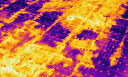 Infrared scan flat roof