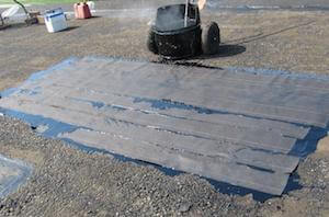 hot asphalt repair to replace wet insulation